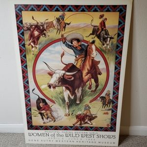 "Vintage Art Poster ""Women of the wild west shows """
